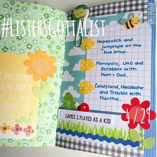 #ListersGottaList - April 29