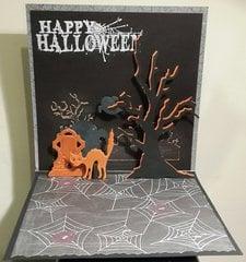 Halloween popup card inside