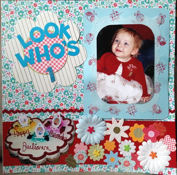 Juliann's first birthday page one