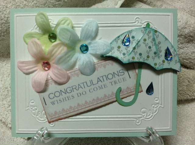 Bridal Shower Umbrella card