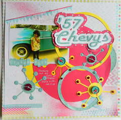 '57 Chevy's - September Color Challenge & Page Maps Etc.