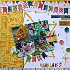 Marrah is 3!