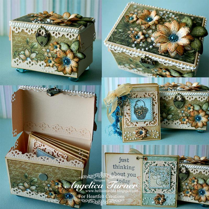 Gift Box & Mini Album {Heartfelt Creations}