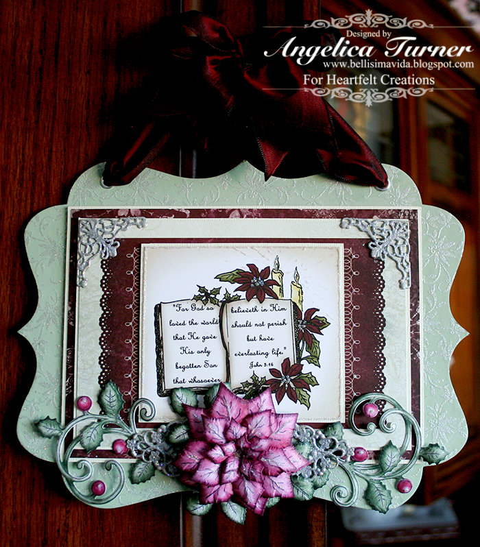 Christmas Wall Hanging {Heartfelt Creations}