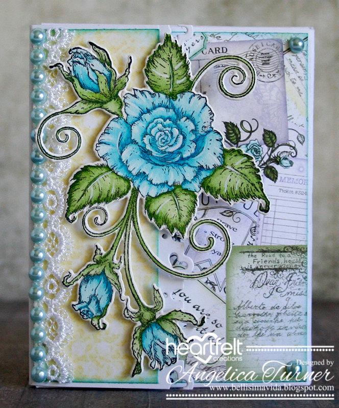 Blushing Rose Mini Brag Book {Heartfelt Creations}