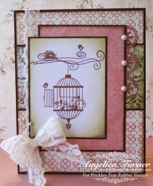Birdcage {Prickley Pear Rubber Stamps}
