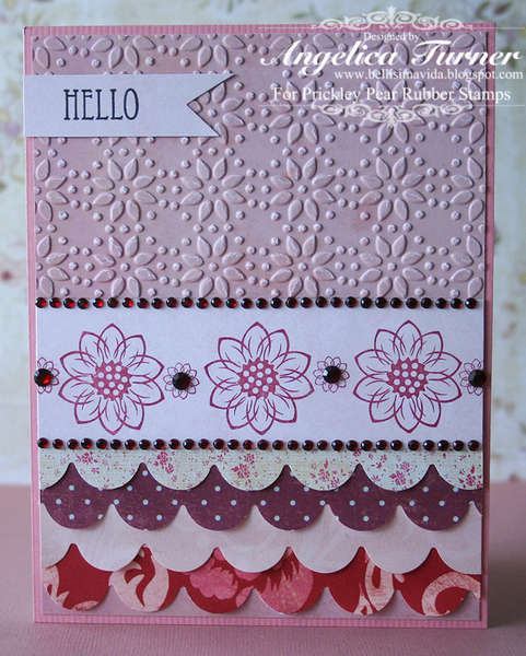 Hello {Prickley Pear Rubber Stamps}