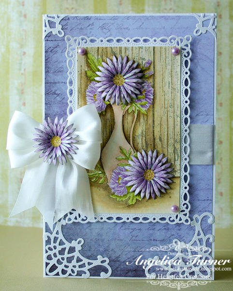 Delicate Asters {Heartfelt Creations}