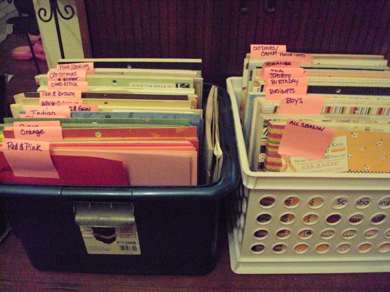 Categorized paper storage