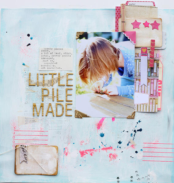 Little Pile Made *March Cocoa Daisy kit*