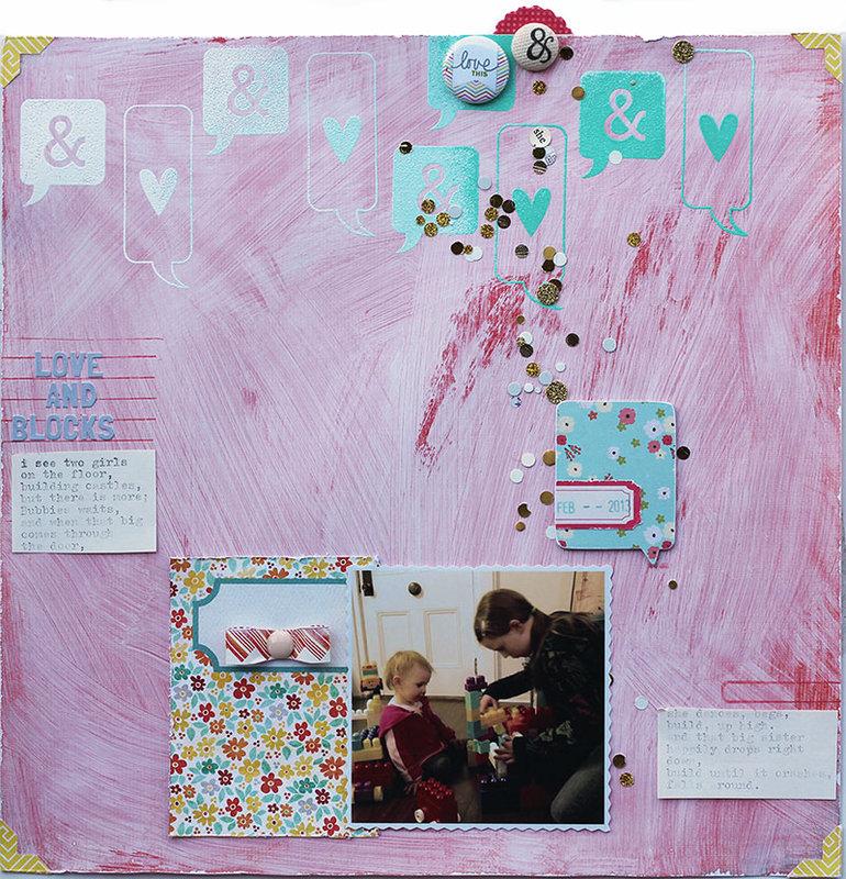 love and blocks *May Cocoa Daisy*