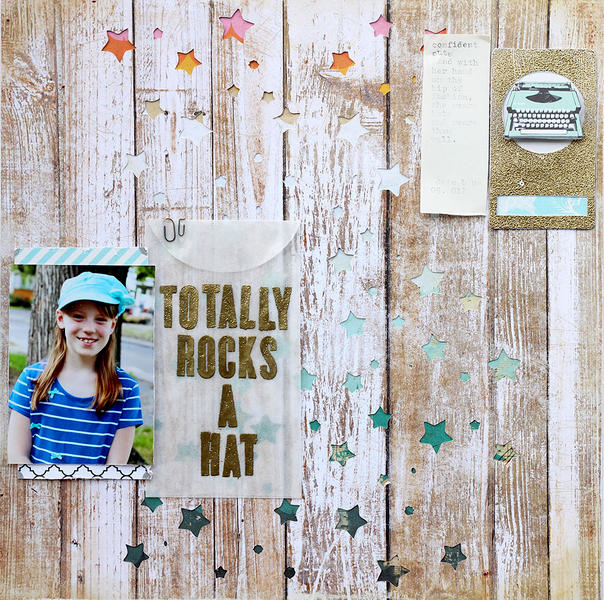 totally rocks a hat *March Cocoa Daisy kit*