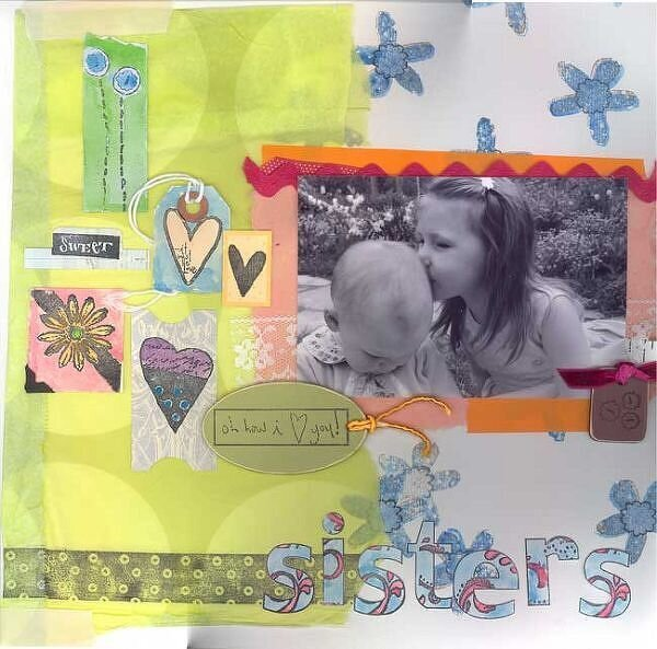 sisters <br>New Leave Memories CHA stamps