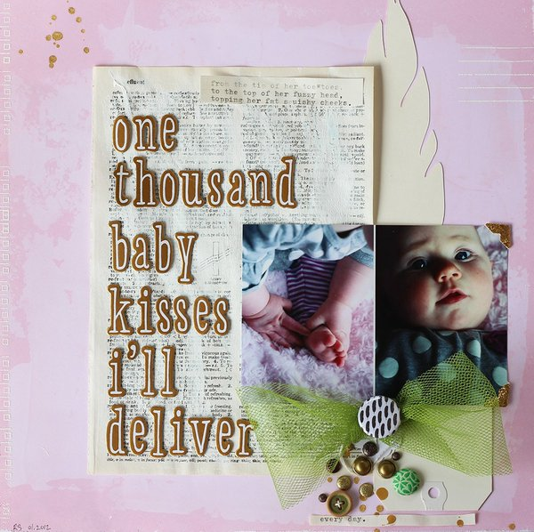 one thousand baby kisses *Scrapbook Update FEATHER