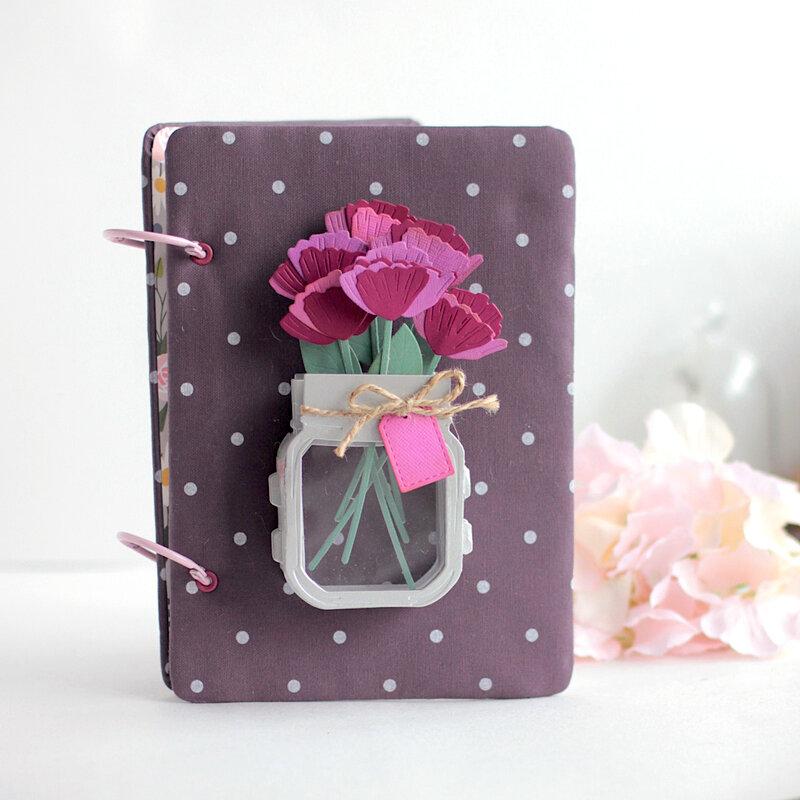 Mini 3D Vignette Floral Mason Jar