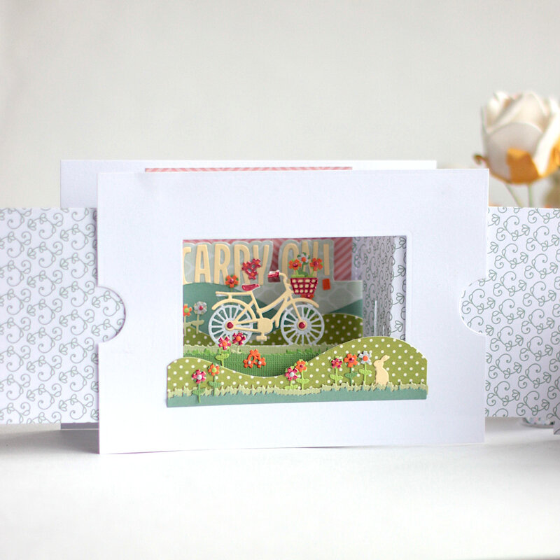 Rolling Alone Scene card - Amazing Paper Grace
