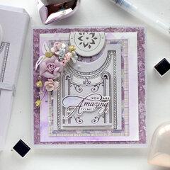 Filigree Crescent Band Card - Amazing Paper Grace