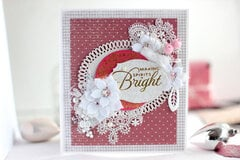 Elegant Holiday Glimmer Card - Amazing Paper Grace