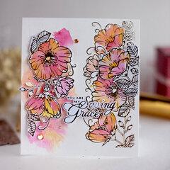 Watercolor Sweet Blooms Border - Amazing Paper Grace