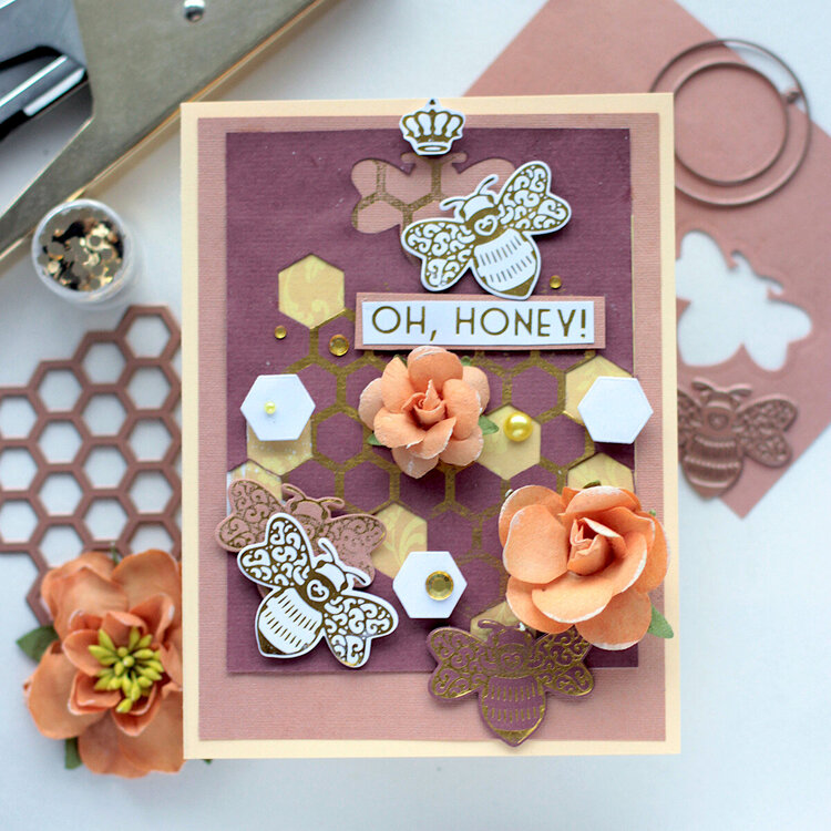 oh, Honey- Bee_Cause Card- Amazing Paper Grace