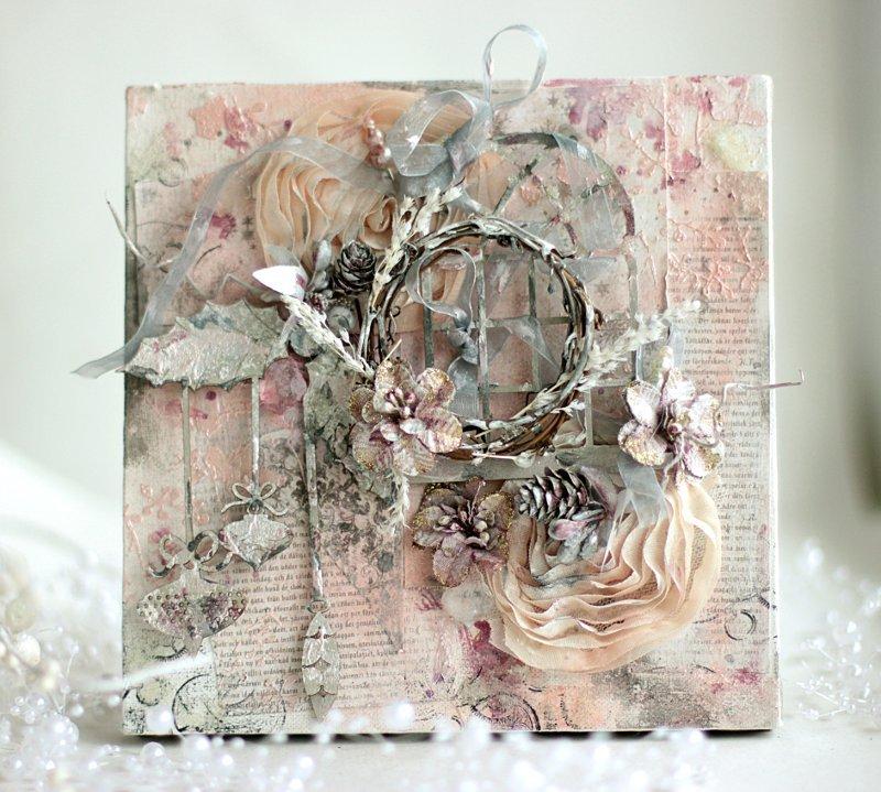 Christmas Canvas ** Shimmerz paints**