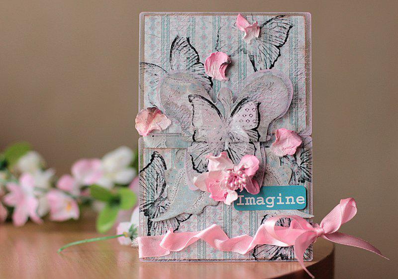 """Card """"Maja Design"""" and """"Clear Scraps"""""""