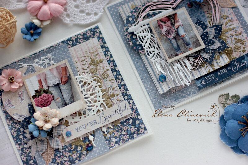 Denim Girls Cards - Maja Design