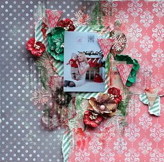 Christmas Layout  **7Dots Studio ** and Clear Scraps