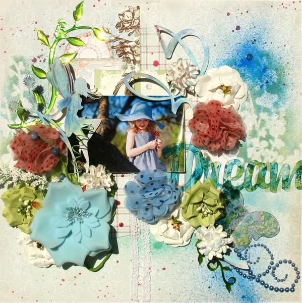 """Summer Dreams ''Manor House Creations"""" and """"Clear Scraps"""""""