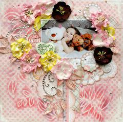 Pretty in Pink **Manor House Creations and Flourish With a Bling**