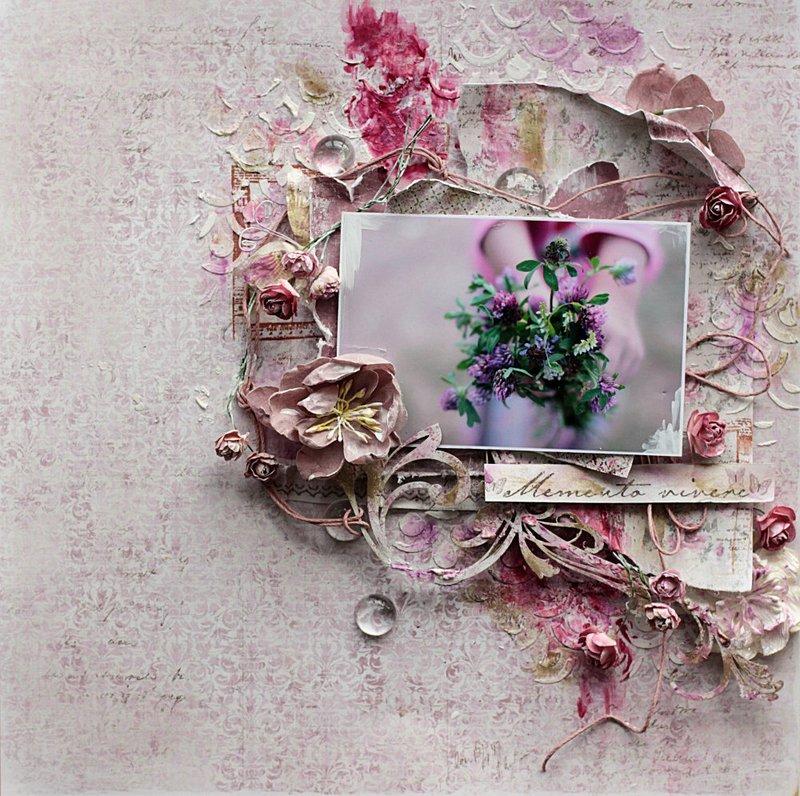 Flowers **Scrapbook Diaries** and Maja Design
