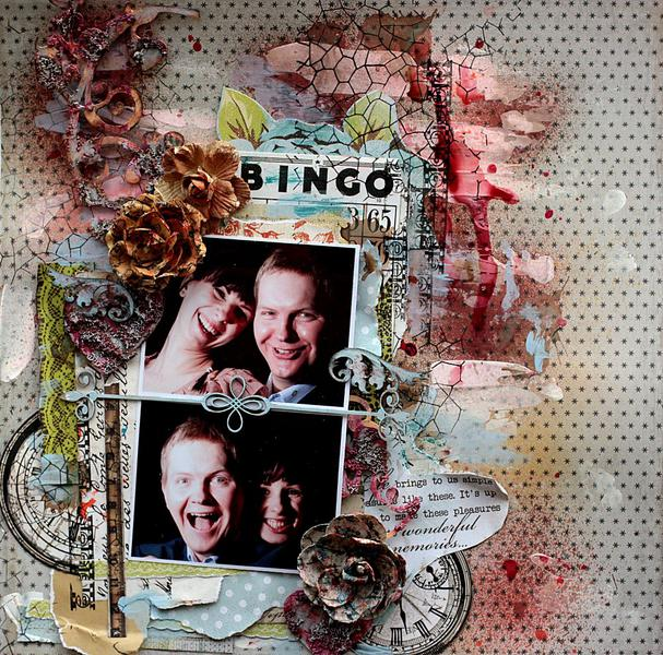 Happy couple **Scraps of Darkness** and 2Crafty chipboard