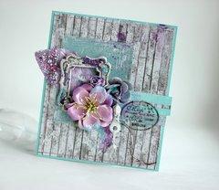 MInt Lilac Card ** Maja DEsign**