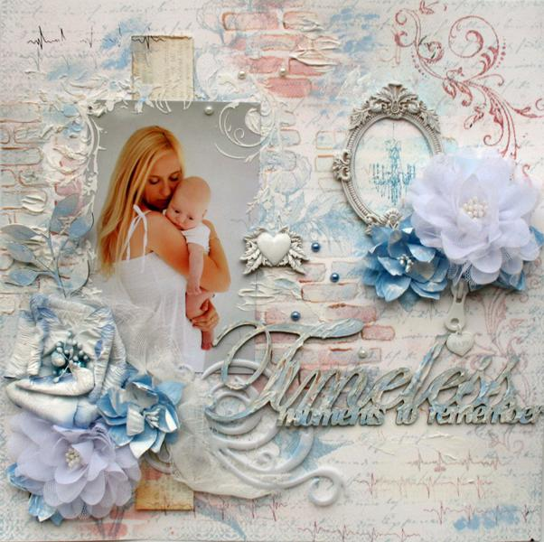 "Timeless Moments """"Manor House Creations and 2Crafty Chipboard**"