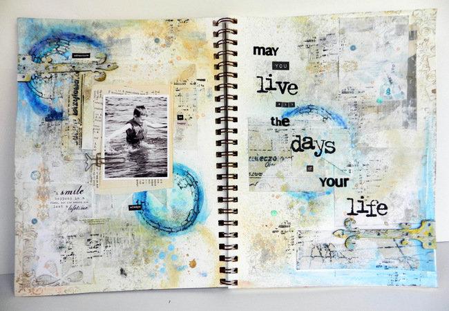 """""""Live"""" {Art Journal} **Blue Fern Studios**"""
