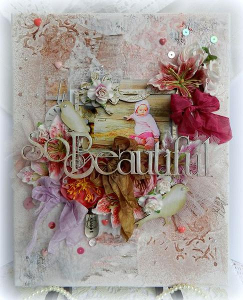 So Beautiful (Canvas) **Scrap FX**