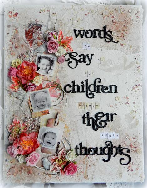"""""""The Words We Say..."""" Canvas"""