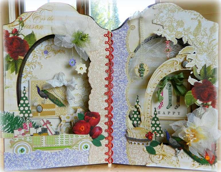 Altered Frame **Webster's Pages Royal Christmas**