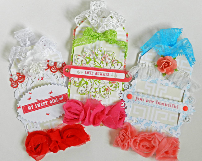 *Webster's Pages* Growing Up Girl Tag Set