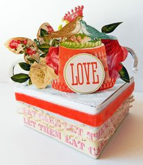 """""""Love"""" Altered Gift Box *Webster's Pages*"""