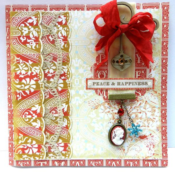 """""""Peace & Happiness"""" Card **Webster's Pages**"""