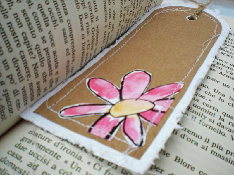 Bookmark pink flower