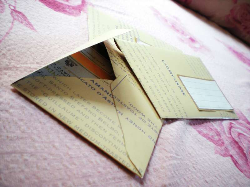 """Yellow """"luxury liquore"""" envelopes"""