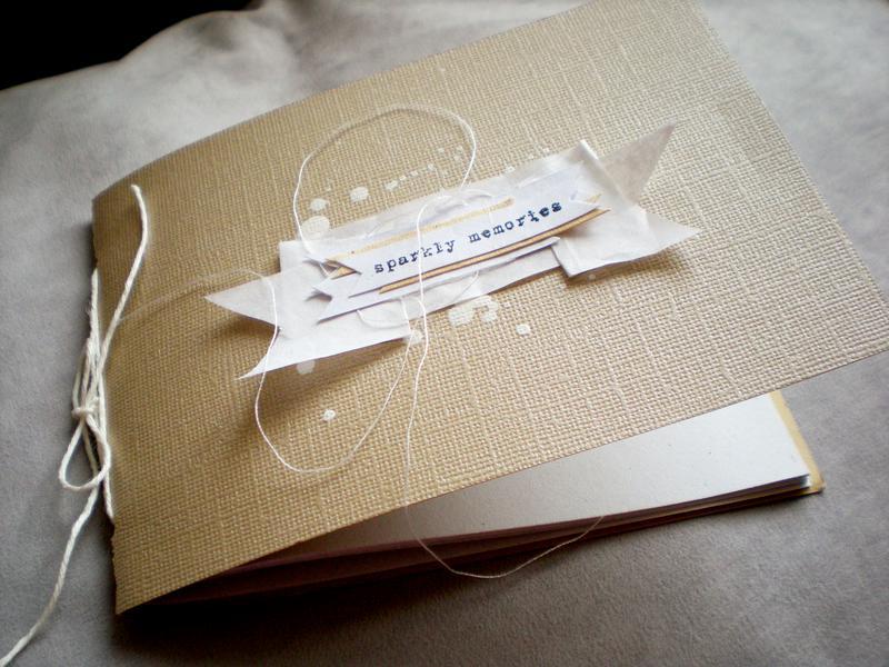 "notebook ""sparkly memories"""