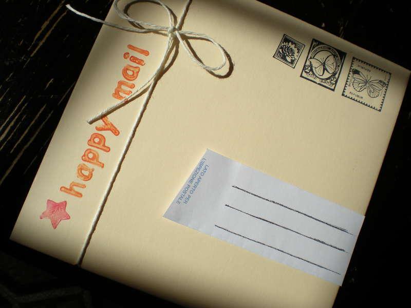 Happy yellow envelope