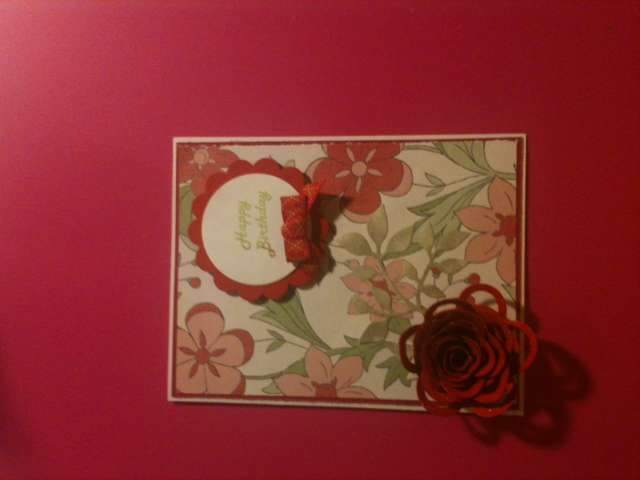 Red Birthday Card