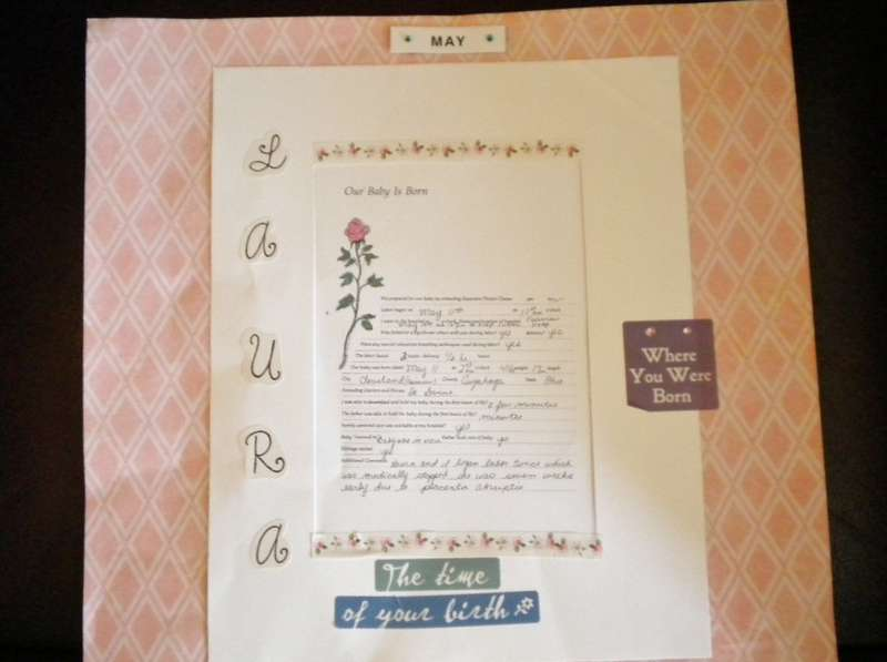"""1st. page, including (a bit hard to read) """"The day you were  Born"""""""