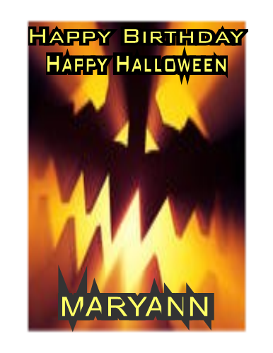 Halloween BDay Card