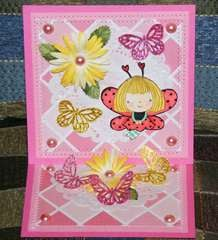 Mother's Day LadyBug Easel card