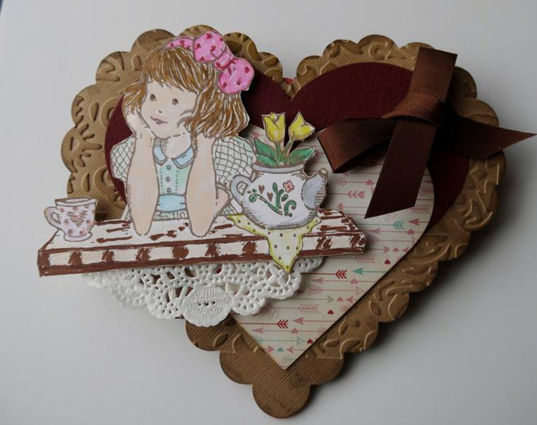 Double heart easel card